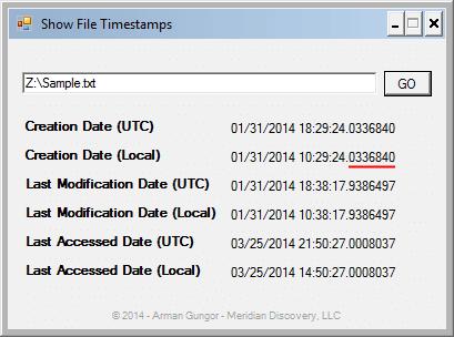 Full NTFS Timestamps